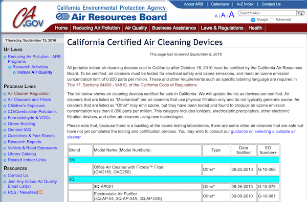 certified ozone air purifiers